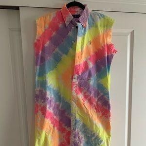 Ralph Lauren rainbow shirt dress
